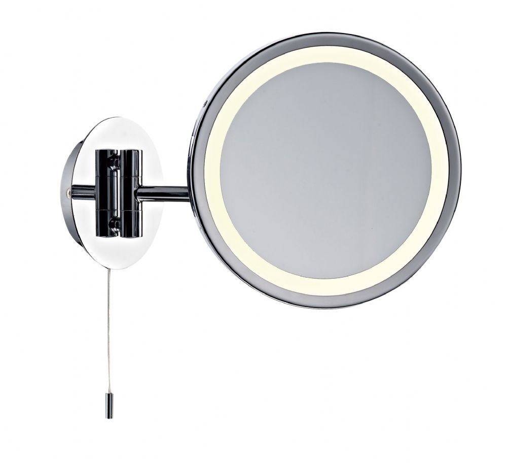 Gibson Magnifying Round Wall Mirror Excl Lamp (Class 2 Double Insulated) BXGIB93-17
